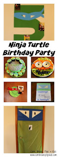 Ninja Turtle Birthday Party full of homemade ideas - invitations, food, cake and decorations