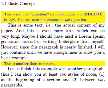 Uwe Jugel: Switchable inline comments for LaTeX/LyX document