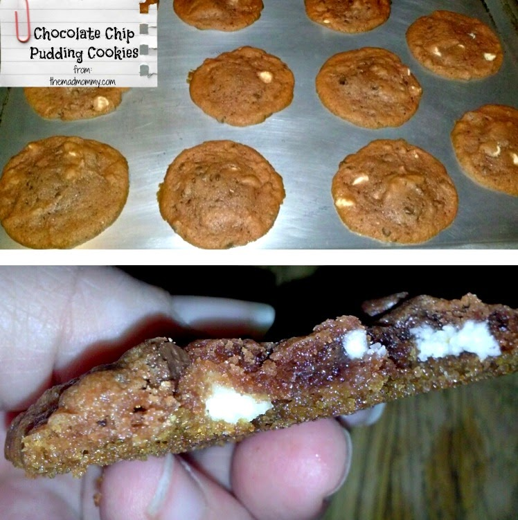 Chewy, gooey and delicious Chocolate Chip Pudding Cookies!