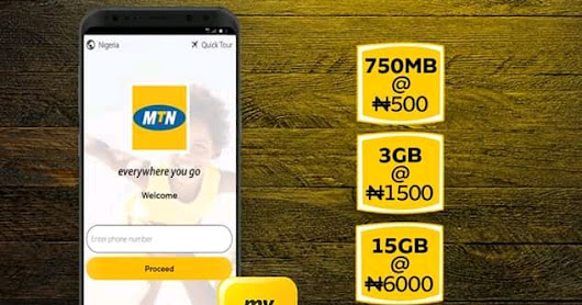 MTN Data Hot Deals Get 750MB For N500, 3GB For N1500 And 15GB For N6000