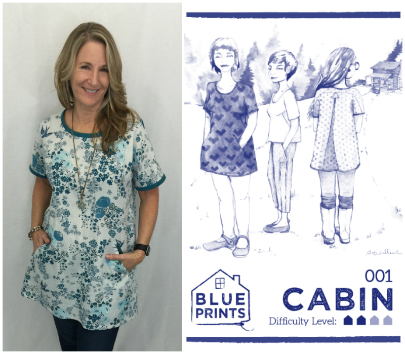 Fabriclady thursdays with laurel wrapping up another year of indie cabin dress and top by blueprints for sewing malvernweather Choice Image