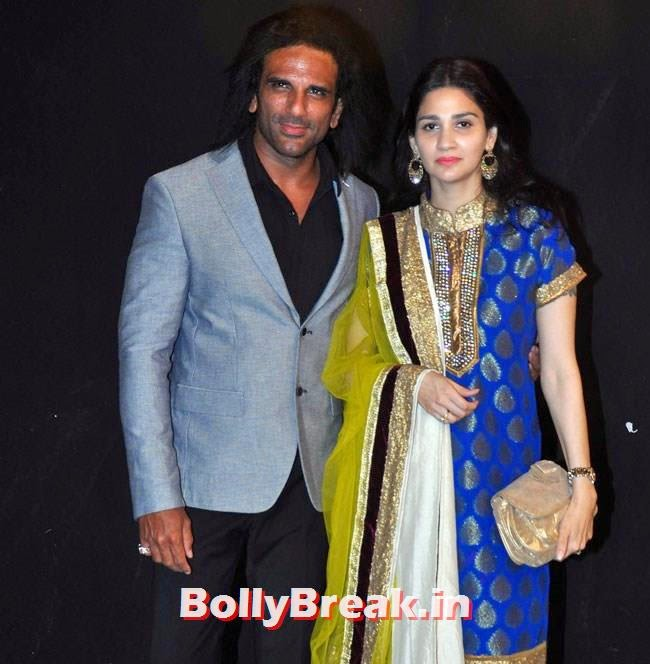 Arav Choudhary along with his wife
