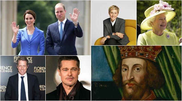 Pokrewieństwo rodziny królewskiej z celebrytami