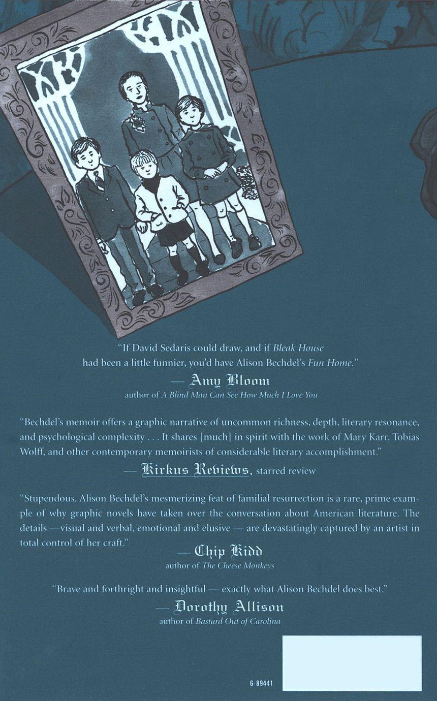 Back Cover of Fun Home: A Family Tragicomic