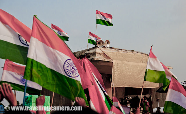 (photograph by Swapnil ShrivastavaThe Capital City of India, Delhi, is ready for celebrating Independence Day on 15th August, 2012. All preparations are almost done and appropriate authorities ensure best security measures in sensitive areas of Delhi and the places where actual celebrations take place. Let's have a look at this Photo Journey to know what all happens in Delhi during Independence Day of INDIAThe Independence Day of India which is celebrated on 15 August, is a national holiday signifies the date of India's independence from the British rule and its birth as a sovereign nation on 15 August 1947.  The independence coincided with the partition of India wherein the British Indian Empire was divided along religious lines into two new nations—Dominion of India (later Republic of India) and Dominion of Pakistan (later Islamic Republic of Pakistan)...Many citizens of India from various parts of Country come to witness this grand ceremony at Red Fort. A grand parade is held at Red Fort by different troops of Indian Army.  During Independence Day of India, Indian Flags can be seen all around. It's not about Red Fort or some selected parts of the country but every red-light, showroom, restaurant etc can be found decorated with Indian Flags. During this activity, most of the folks make sure that Indian Flag is not disrespected by any means, although many times these flags are also seen on roads after the ceremonial day, which is one of the sad part.On 15 August, the Prime Minister of India hoists the Indian flag on the ramparts of the historical site Red Fort in Delhi. Twenty-one gun shots are fired in honour of the solemn occasion. In his speech, the Prime Minister highlights the achievements of his government during the past year, raises important issues and gives a call for further development. He pays tribute to the leaders of the freedom struggle. The Indian national anthem, Jana Gana Mana is sung. The speech is followed by march past by divisions of the Indian Army and paramilitary forces, and parades and pageants showcasing events from the struggle for independence as well as cultural traditions of the country. Similar events take place in state capitals where the Chief Ministers of individual states unfurl the national flag, and parades and pageants folloThe Independence Day is one of the three national holidays in India (the other two being the Republic Day on 26 January and Mahatma Gandhi's birthday on 2 October) and is observed in all Indian states and union territories. On the eve of the Independence Day, the President of India delivers the 'Address to the Nation', which is televised nationally. So this year, Pranav Mukharjee would be addressing Indians first time as President.Security measures in the country are intensified before the Independence Day celebration, especially in major cities such as Delhi, Mumbai, Banglore and in troubled states such as Jammu and Kashmir. The celebratory events are anticipated to be the target of terrorist attacks. The aerial space around the Red Fort is declared a no-fly zone during the celebration to prevent aerial attacks, and additional police forces are deployed in other cities.