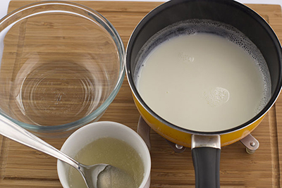 sữa tươi, bột gelatin