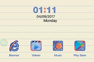 Oppo F3 Theme Paper Theme