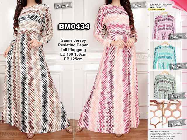 Bursa Grosir Busana Muslim Tanah Abang Bm0434 Gamis Dress