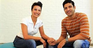 Farhan Akhtar with his wife