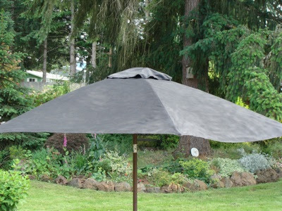 How To Paint A Faded Outdoor Umbrella See It Held Up An Oregon Cottage