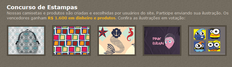 Concurso de Estampas do Camiseteria