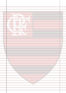 Papel Pautado do Flamengo para imprimir na folha A4