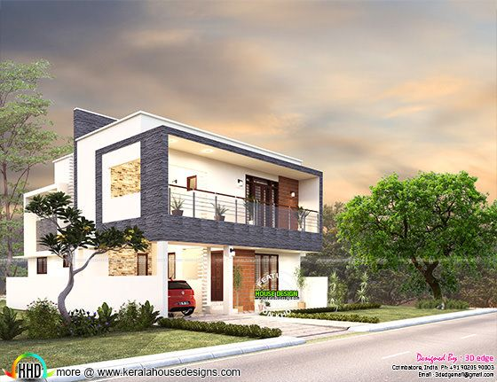 3 bedroom contemporary flat roof 2080 sq-ft