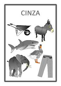 Atividades com Cores - Cinza