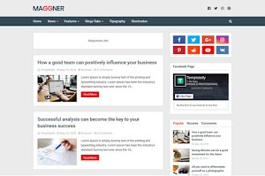 New Maggner - Responsive Blogger Template