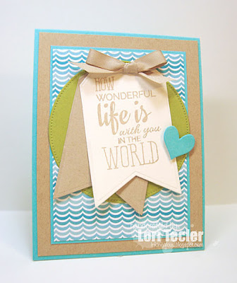 How Wonderful Life Is card-designed by Lori Tecler/Inking Aloud-stamps from Verve Stamps