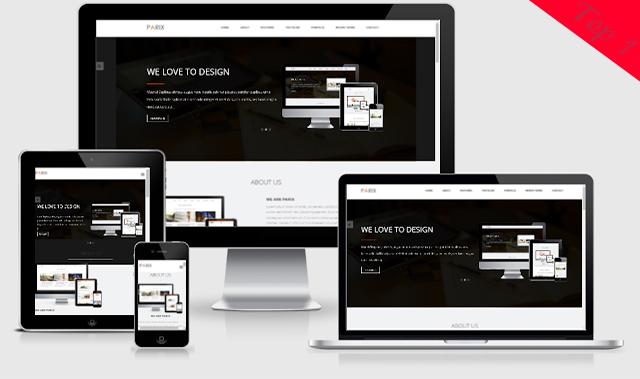 Parix Blogger Template Landing Page