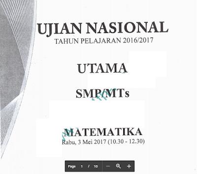 Soal UN SMP 2017 Semua Mata Pelajaran Persiapan Tahun 2018