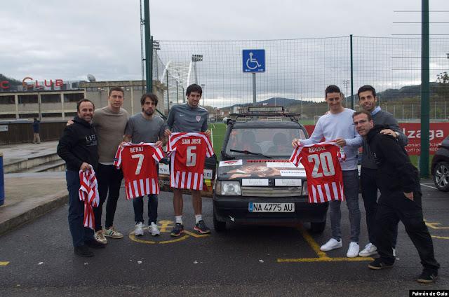 Jugadores de Athletic apoyan al equipo de Pulmón de Gaia