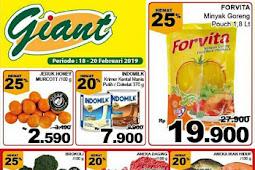 Katalog Promo Giant Weekday Terbaru 18 - 24 Februari 2019
