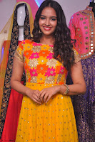 Pujitha in Yellow Ethnic Salawr Suit Stunning Beauty Darshakudu Movie actress Pujitha at a saree store Launch ~ Celebrities Galleries 040.jpg