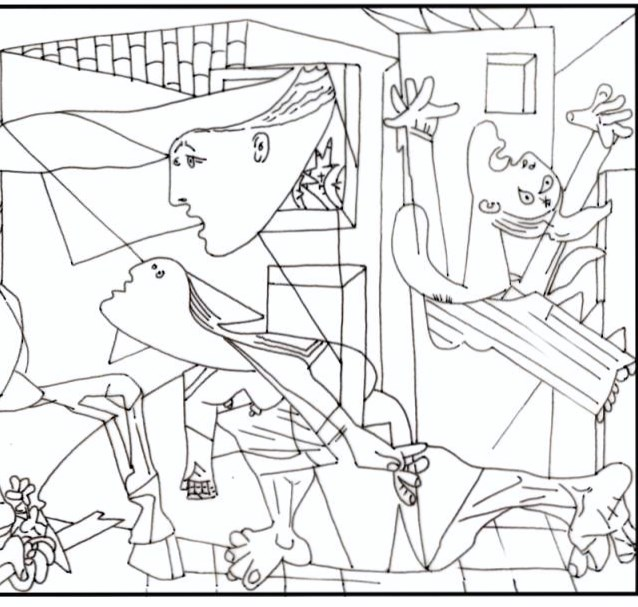 Free coloring pages of picasso portrait