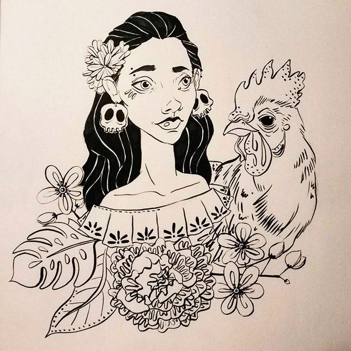 Ilustración, Niña de Carmen Páez aka Carmen Lu