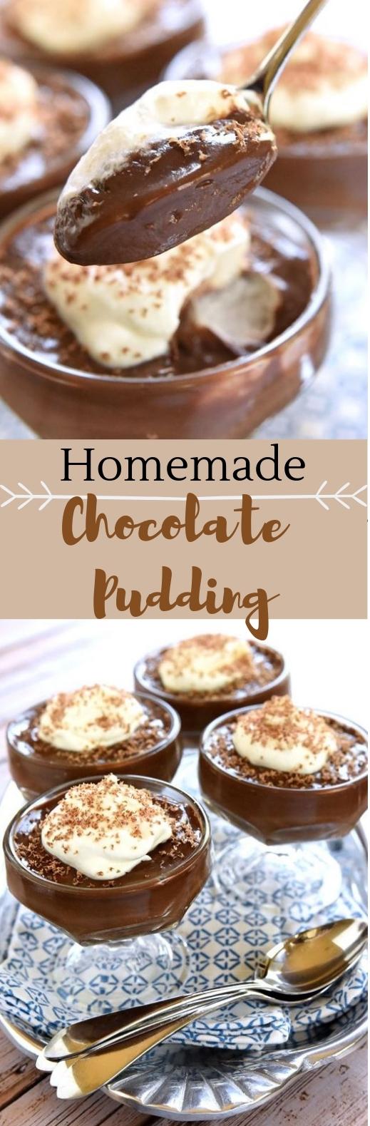 Homemade Chocolate Pudding #dessert #bestrecipe