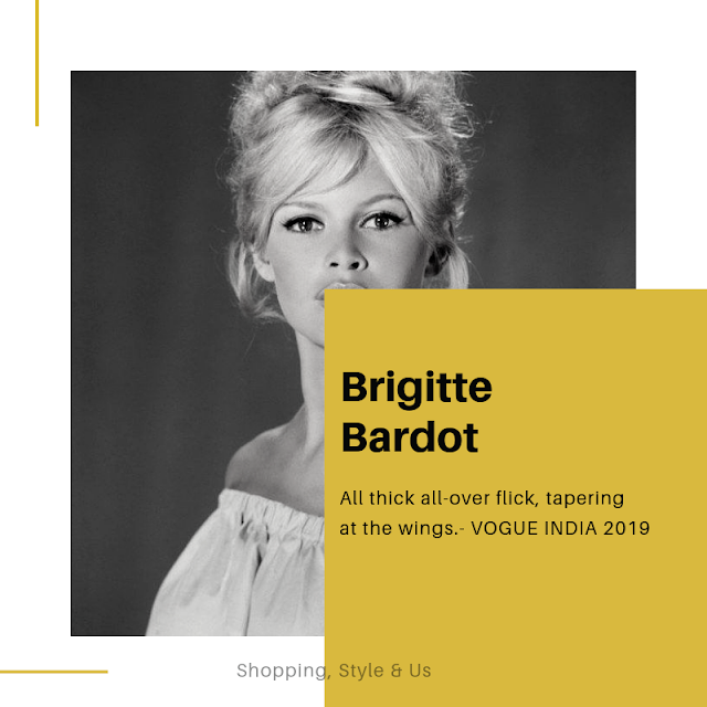 Brigitte Bardot's flirty and girly eyeliner flick!