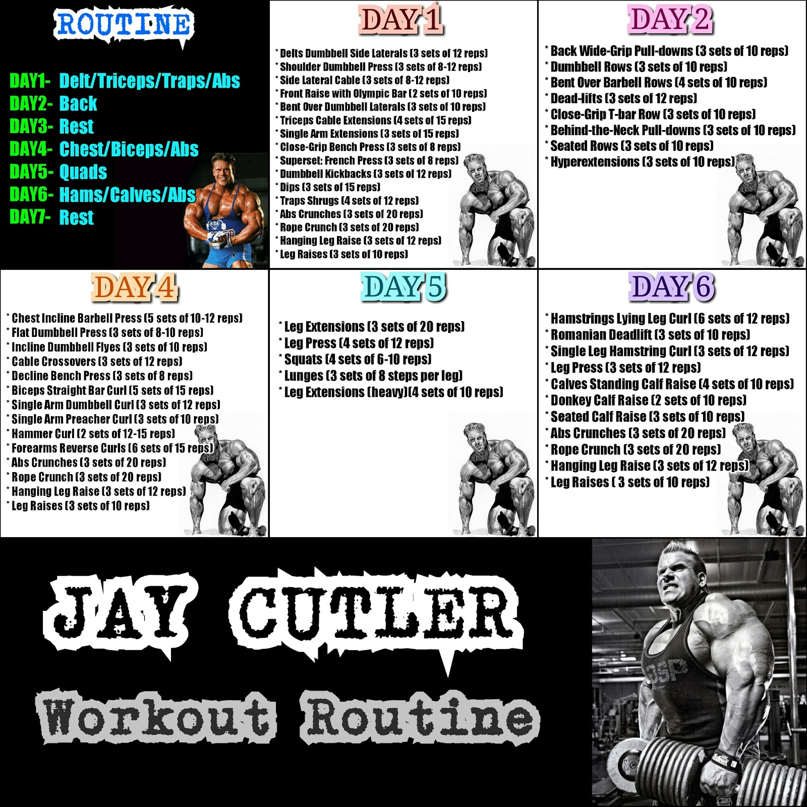 Exercise Workout Plan: Fitness Routine: Workout Routine Jay Cutler