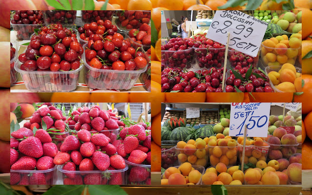 A Food Holiday in Emilia-Romagna Italy - Fresh Cherries, Strawberries, and Apricots