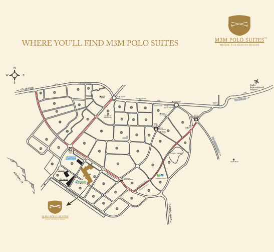 Location map - M3M Polo Suites