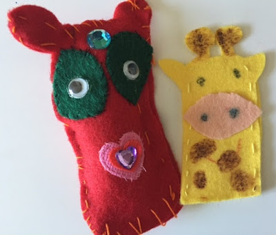 Felt sewing with children