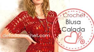 Patrones de Blusa Calada Crochet 😊