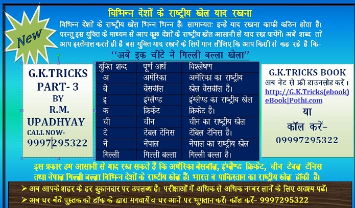 Rajasthan Gk Trick (ebook)