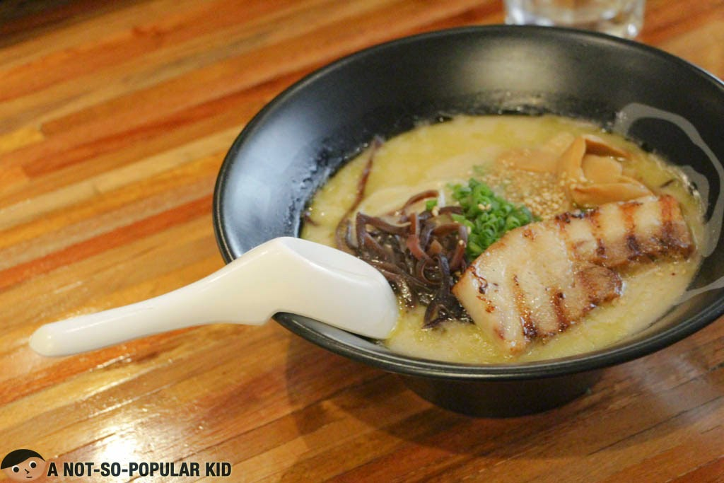 Shio Ramen of Mendokoro with the brilliantly designed soup spoon
