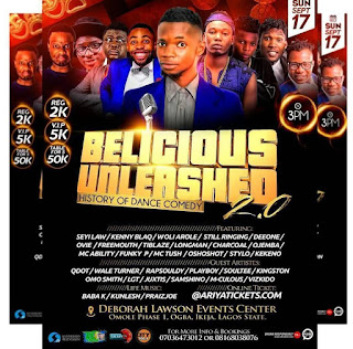EVENT: The Biggest Comedy On The Mainland: Belicious Unleashed 2.0 (SEPT 17TH) 2