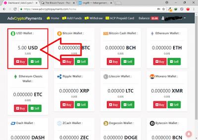 AdvCryptoPayments – 5 dólares em moedas digitais