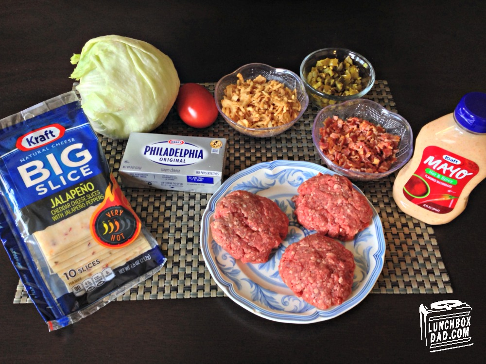 Ingredients for Kraft Outside-In Jalapeno-Bacon Cheeseburger #SayCheeseburger #CollectiveBias