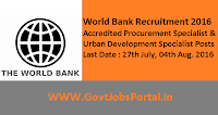 World Bank Recruitment 2016