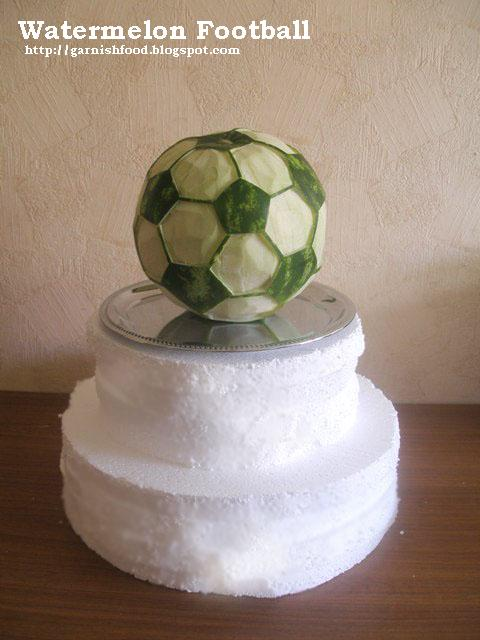 watermelon football carving