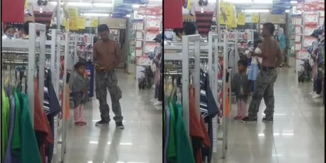 Masuk Swalayan Tak Gunakan Baju Dan Dianggap Kurang Waras, Alasan Pria Ini Bikin Haru Netizen