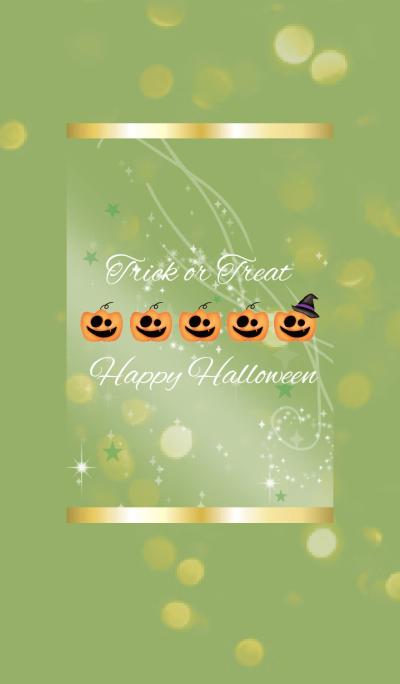 Yellow Green / Happy Halloween