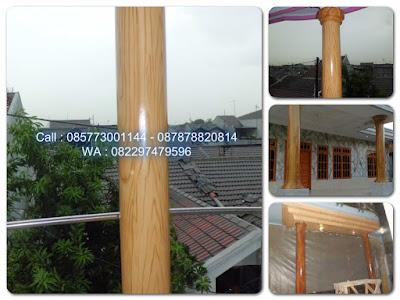Cat tiang motif kayu
