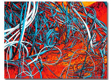 abstract art, multi coloured, urban art, contemporary art, modern art, large art, artwork, artist, Sam Freek,