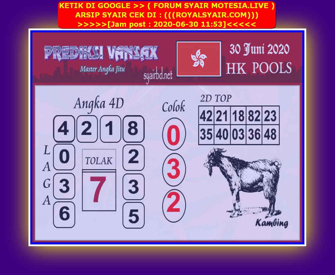 Kode syair Hongkong Selasa 30 Juni 2020 190