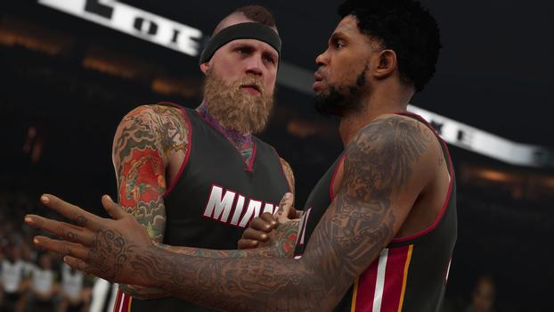 Birdman & Haslem NBA 2K15 Screenshot
