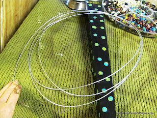 wire for beaded dragonfly wing