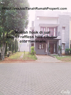 Rumah hook di jual cluster raffless hills cibubur elite minimalis