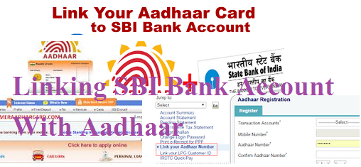 Linking SBI Bank Account With Aadhaar